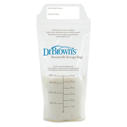 Breast Milk Storage - Dr Brown's Breastmilk Storage Bags (6OZ/180ml) 25 Pack