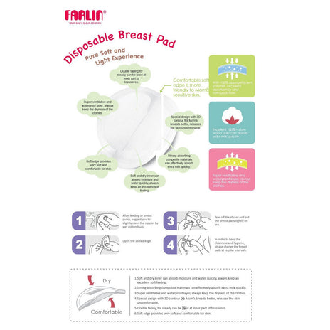 Breast Pads - Farlin Disposable Breast Pad 36 Pcs