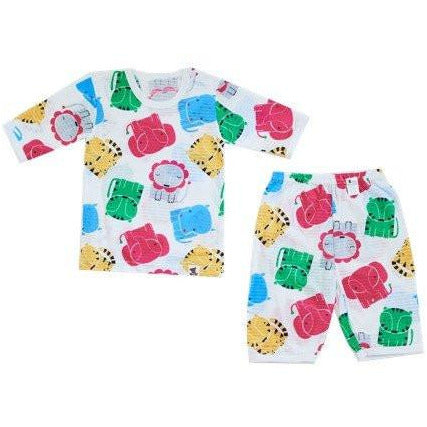 Puco Jacquard Pyjamas Set - Colorful Friends