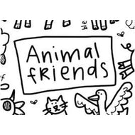 Colouring Mat - DrawnBy: Jessica - Animal Friends Washable Silicone Colouring Mat
