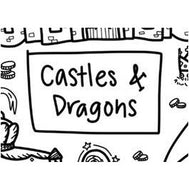 Colouring Mat - DrawnBy: Jessica - Castles&Dragons Washable Silicone Colouring Mat