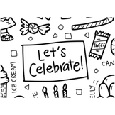 Colouring Mat - DrawnBy: Jessica - Let's Celebrate Washable Silicone Colouring Mat