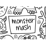 Colouring Mat - DrawnBy: Jessica - Monster Mash Washable Silicone Colouring Mat