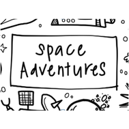 Colouring Mat - DrawnBy: Jessica - Space Adventures Washable Silicone Colouring Mat