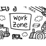 Colouring Mat - DrawnBy: Jessica - Work Zone Washable Silicone Colouring Mat