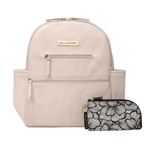 Diaper Bag - Petunia Pickle Bottom Ace Backpack In Ivory Leatherette