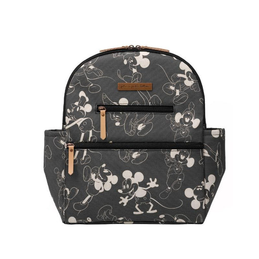Diaper Bag - Petunia Pickle Bottom Ace Backpack In Mickey's 90th Vintage Black & White