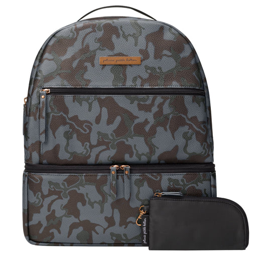 Diaper Bag - Petunia Pickle Bottom Axis Backpack: Camo Matte Leatherette