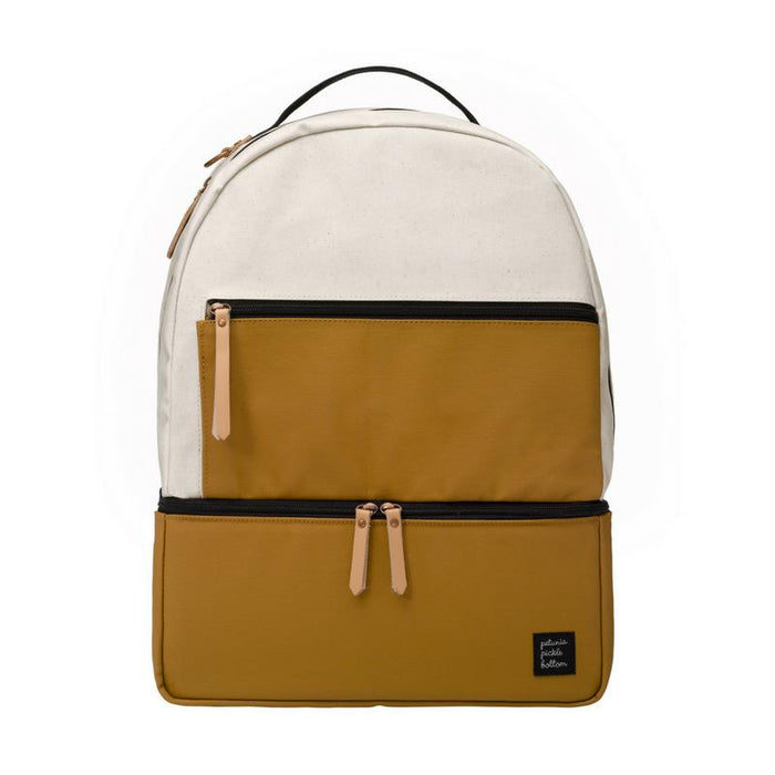 Diaper Bag - Petunia Pickle Bottom Axis Backpack: Caramel/Black