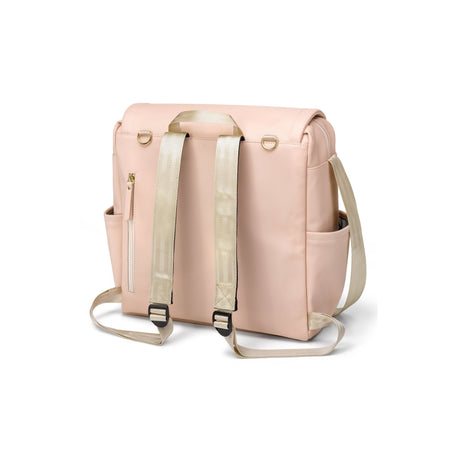 Diaper Bag - Petunia Pickle Bottom Boxy Backpack: Blush Leatherette