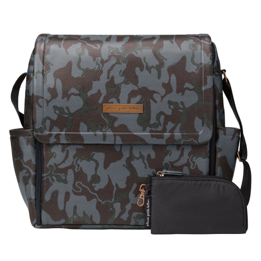 Diaper Bag - Petunia Pickle Bottom Boxy Backpack: Camo Matte Leatherette