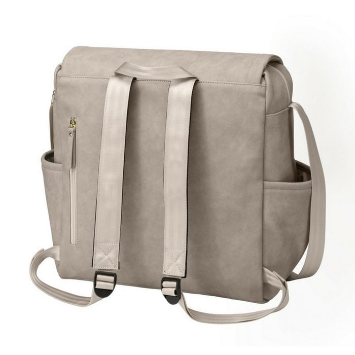 Diaper Bag - Petunia Pickle Bottom Boxy Backpack: Grey Leatherette
