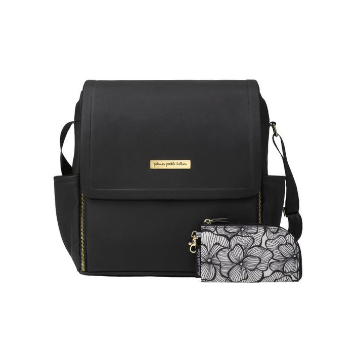 Diaper Bag - Petunia Pickle Bottom Boxy Backpack In Black Leatherette