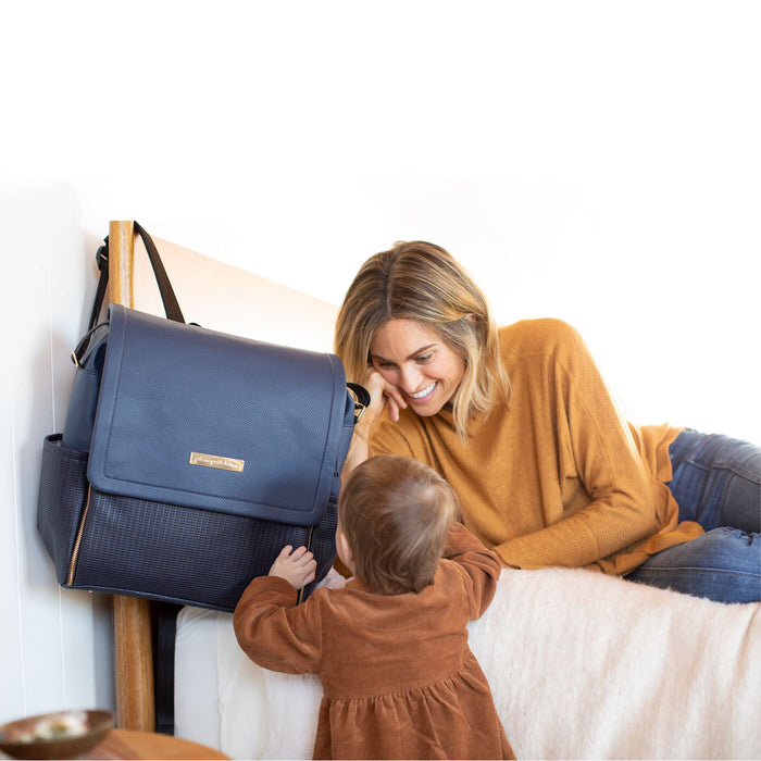 Diaper Bag - Petunia Pickle Bottom Boxy Backpack: Night Sky Leatherette