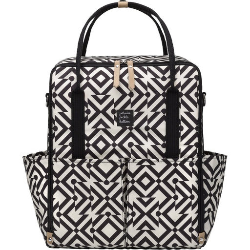 Diaper Bag - Petunia Pickle Bottom Inter-Mix Backpack: Mazes Of Milano - Black