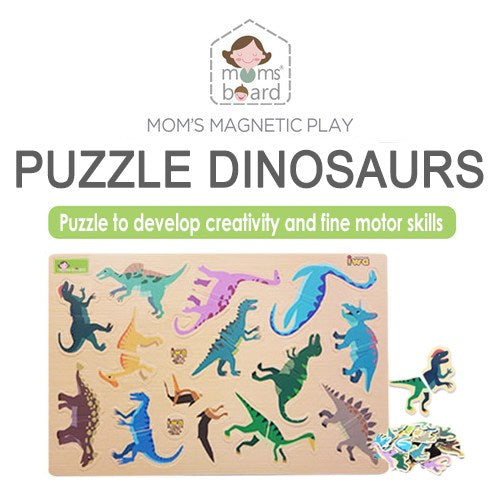 Momsboard Magnetic Puzzle – Dinosaurs (Opp)