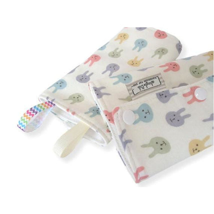 Drool Pad - Jingle Drool Pad - Colorful Bunny Rabbit