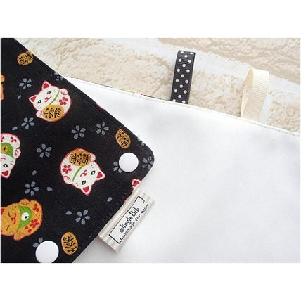 Drool Pad - Jinglebib Drool Pad - Maneki Neko Cat (New)