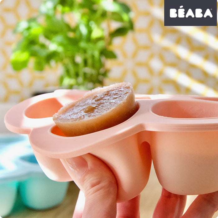 BEABA Multiportion Silicone Tray 6 x 90ml - PINK