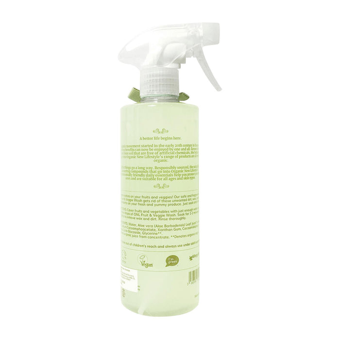 Fruit And Vegetable Cleanser - Organic New Lifestyle Fruits & Vegetable Wash 500ml [2+1 Event]