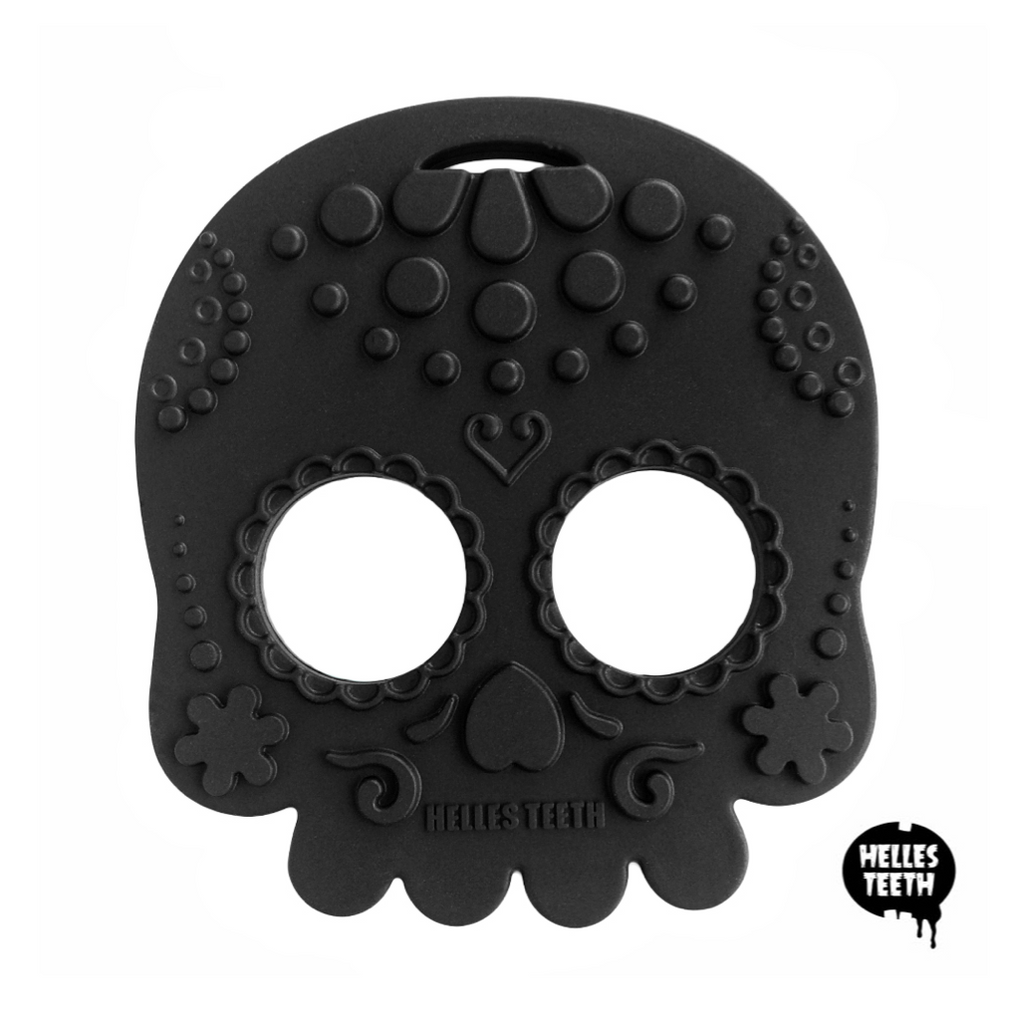Helles Teeth Sugar Skull Teether (Black)