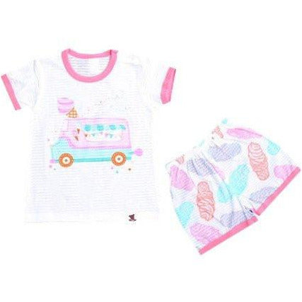 Puco Jacquard Short Sleeve Set - Ice-cream Truck