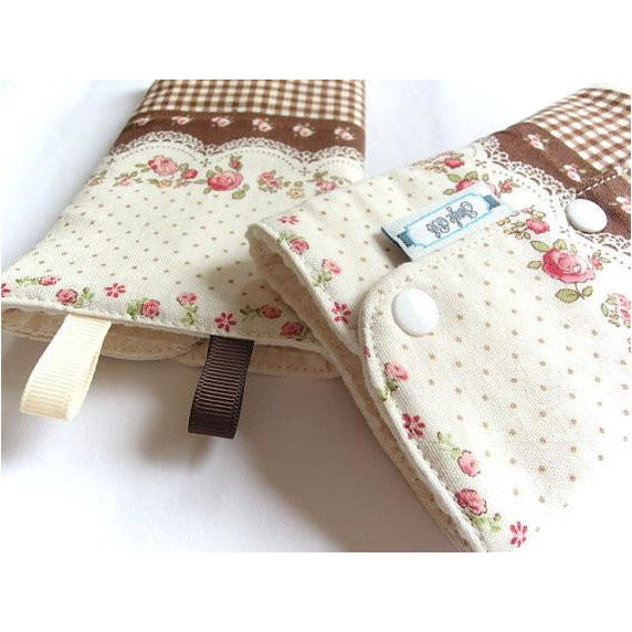 Jinglebib Drool Pad - Brown Checkers - Little Baby