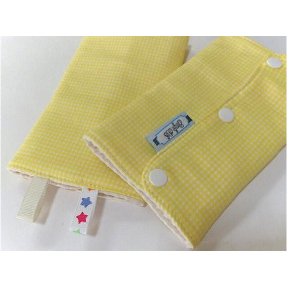 Jinglebib Drool Pad - Yellow - Little Baby