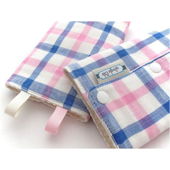 Jinglebib Drool Pad - Blue & Pink Stripes - Little Baby