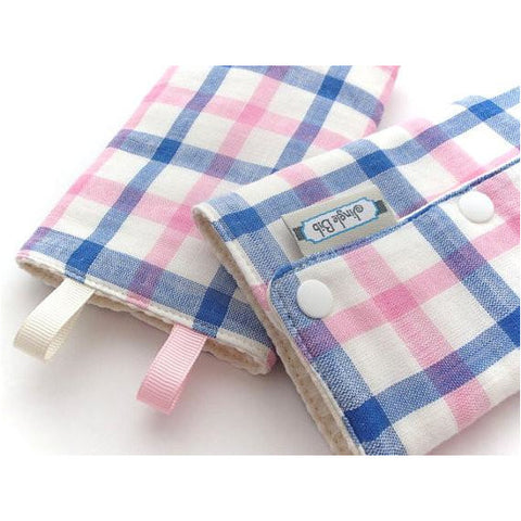 Jinglebib Drool Pad - Blue & Pink Stripes
