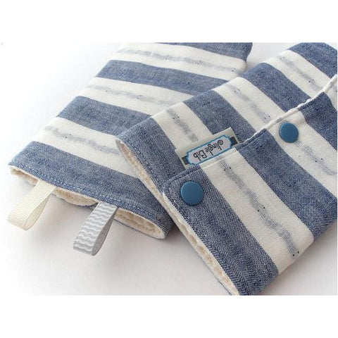 Jinglebib Drool Pad - Blue & White Stripes