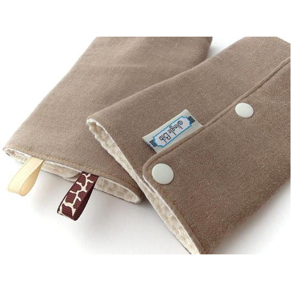 Jinglebib Drool Pad - Chocolate - Little Baby