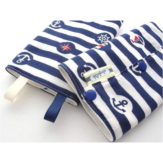 Jinglebib Drool Pad - Nautical - Little Baby