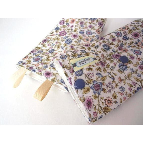 Jingle Drool Pad - Purple Blue Flowers