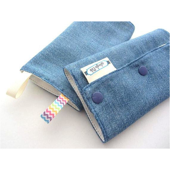 Jinglebib Drool Pad - Blue Denim - Little Baby