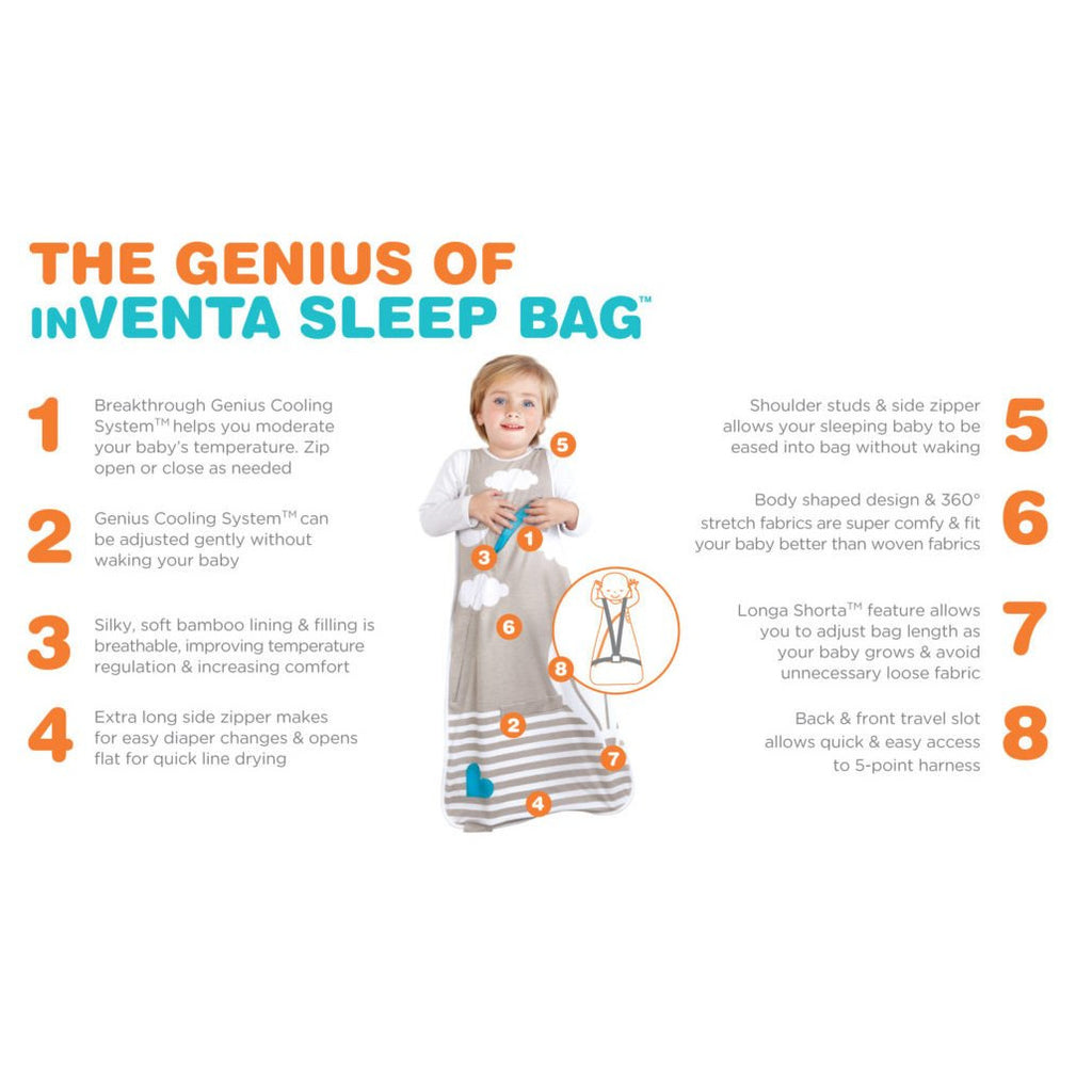 Love To Dream Inventa™ 1.0 TOG Sleep Bag (Blue)