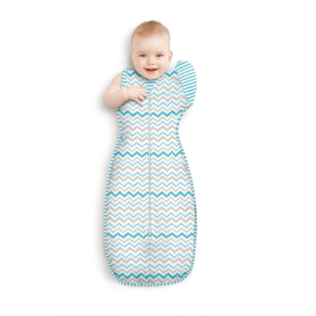 Love To Swaddle UP™ 50/50 (Aqua Zig Zag) - Little Baby