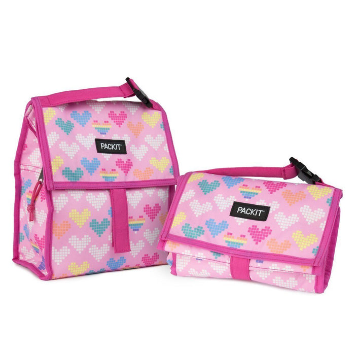 Lunch Bag - PackIt Freezable Lunch Bag - Pixel Hearts