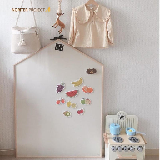 Magnetic Board - Noriterboard - Lillie Hus Board One Tone In Natural Wood (M Size) - Beige/Ivory + Free Gifts