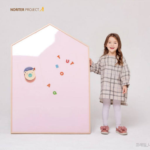 Magnetic Board - Noriterboard Magnetic Board One Tone In Natural Wood - Pink + Free Gifts