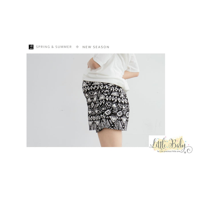 Maternity Wear - L1663818 Tribe Print Shorts (L Size)