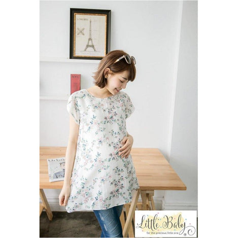Maternity Wear - LB16670254 Floral Prints On White