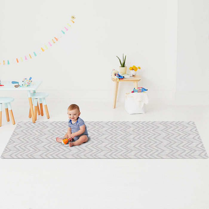 Skip Hop Doubleplay Reversible Playmat Little Travelers/Herringbone
