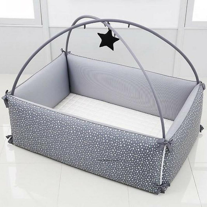 Microfiber Bumper Bed - LOLBaby Convertible Microfiber Bumper Bed (L) - Big Star