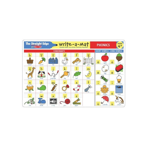 Melissa & Doug Phonics Write-a-Mat