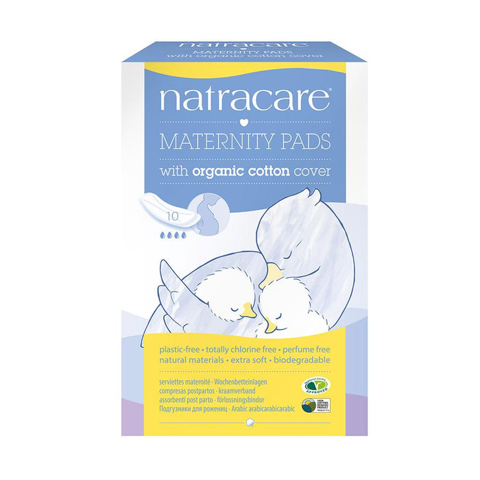 Natracare Maternity Pads With Organic Cotton Cover 10pcs - Natracare Maternity Pads With Organic Cotton Cover 10pcs