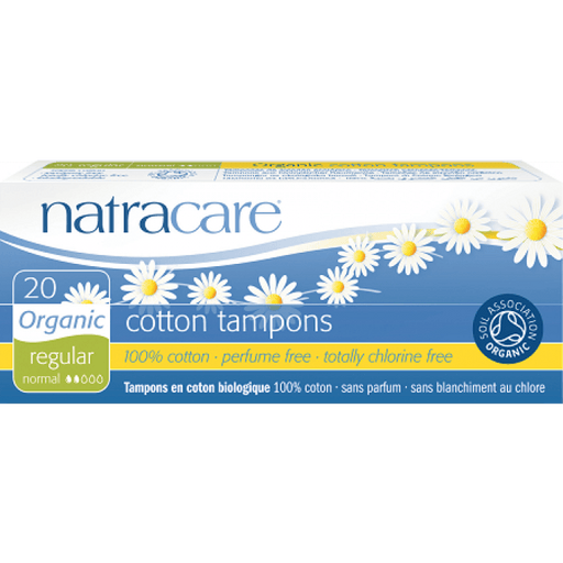 Natracare Organic Cotton Tampons - Regular 20pcs - Natracare Organic Cotton Tampons - Regular 20pcs