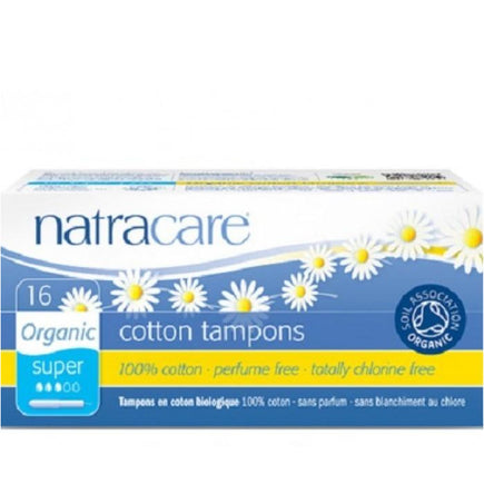 Natracare Organic Cotton Tampons - Super With Applicator 16pcs - Natracare Organic Cotton Tampons - Super With Applicator 16pcs