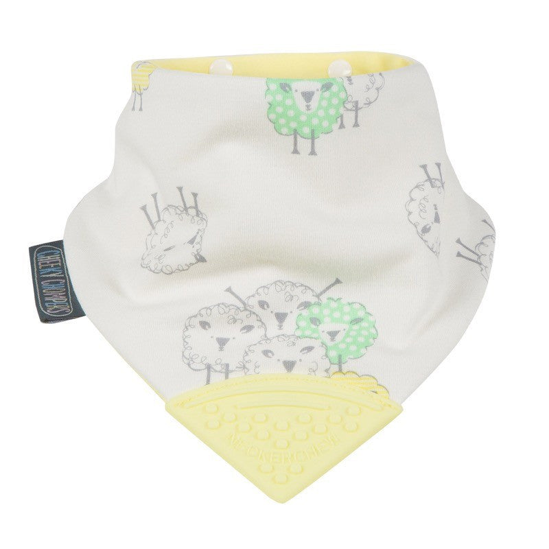 Cheeky Chompers Neckerchew Baby Bib - Barnaby Sheep - Little Baby