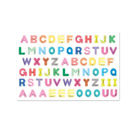 Noriterboard Rainbow Pastel Alphabet 66 Magnets - Noriterboard Rainbow Pastel Alphabet 66 Magnets